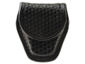 Product detail of Bianchi 7917 AccuMold Elite Double Cuff Case Hidden Snap Basketweave Nylon Black