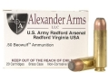 Product detail of Alexander Arms Ammunition 50 Beowulf 400 Grain Hawk Jacketed Flat Point Box of 20