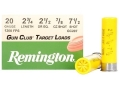 "Product detail of Remington Gun Club Target Ammunition 20 Gauge 2-3/4"" 7/8 oz #7-1/2 Shot"