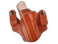 Product detail of DeSantis Mad Max Tuckable Inside the Waistband Holster Left Hand 1911 Government, Commander Leather Tan