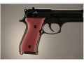 Product detail of Hogue Extreme Series Grip Beretta 92F, 92FS, 92SB, 96, M9 Checkered Aluminum Matte Red