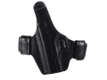 Product detail of Bianchi Allusion Series 130 Classified Outside the Waistband Holster Left Hand Glock 19, 23, 32 Leather Black