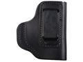 Product detail of DeSantis Insider Inside the Waistband Holster Right Hand Sig Sauer P238, Beretta Tomcat, Colt Pony Leather Black