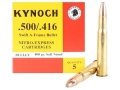 Product detail of Kynoch Ammunition 500-416 Nitro Express 400 Grain Swift A-Frame Box of 5