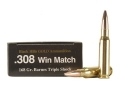 Product detail of Black Hills Gold Ammunition 308 Winchester 168 Grain Barnes Triple-Shock X Bullet Hollow Point Boat Tail Lead-Free Box of 20