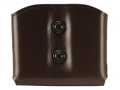 Product detail of Galco DMC Double Magazine Pouch 40 S&W, 9mm Double Stack Magazines Leather Brown