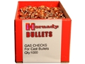 Product detail of Hornady Gas Checks 22 Caliber Box of 1000