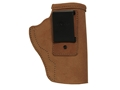 Product detail of Galco Stow-N-Go Inside the Waistband Holster Right Hand Ruger LCP with Crimson Trace Laserguard Leather Brown