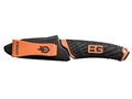 "Product detail of Gerber Bear Grylls Compact Fixed Blade Knife 3.4"" Drop Point 7Cr17MoV Steel Blade Rubber Handle Orange and Black"