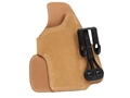 Product detail of Blackhawk Tuckable Holster Inside the Waistband Right Hand Kahr CW9, CW40, P9, P40, K9, K40 Model Leather Brown