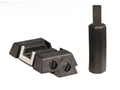 Product detail of Glock Square Adjustable Rear Sight with Adjustment Tool Polymer Black White Outline