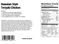 Product detail of AlpineAire Hawaiian Style Teriyaki Chicken Freeze Dried Food 2 Servings