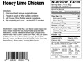 Product detail of Natural High Honey Lime Chicken Freeze Dried Food 2 Servings