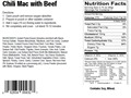 Thumbnail Image: Product detail of Natural High Chili Mac with Beef Freeze Dried Mea...