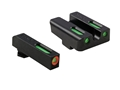TRUGLO TFX Pro Sight Set Glock 17, 19, 22, 23, 24, 26, 27, 33, 34, 35 Tritium / Fiber Optic Green with Orange Front Dot Outline