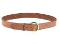 Bianchi B12 Sport Stitched Belt 1-1/2&quot; Suede Lined Leather