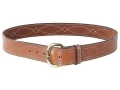 Bianchi B9 Fancy Stitched Belt 1-3/4&quot; Suede Lined Leather