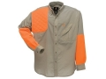 Browning Men's Cross Country Upland Shirt Long Sleeve Polyester Khaki and Blaze Orange Medium 40-42
