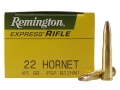Product detail of Remington Express Ammunition 22 Hornet 45 Grain Pointed Soft Point Box of 50