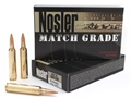 Nosler Match Grade Ammunition 28 Nosler 168 Grain Hollow Point Boat Tail Box of 20