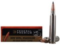 Product detail of Federal Premium Vital-Shok Ammunition 300 Winchester Magnum 180 Grain Trophy Copper Tipped Boat Tail Lead-Free Box of 20