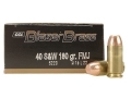 CCI Blazer Brass Ammunition 40 S&W 180 Grain Full Metal Jacket