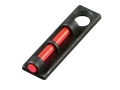 HIVIZ Flame Front Sight for Shotgun Barrels with Vent Rib & Removable Front Bead Fiber Optic Red