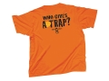 "Bob Allen ""Who Gives a Trap"" Short-Sleeved T-Shirt Cotton Orange XL"