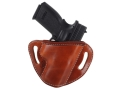 """El Paso Saddlery #88 Street Combat Outside the Waistband Holster Right Hand Springfield XD 9mm, 40 S&W Service 4"""" Leather Russet Brown"""