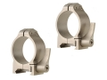 Warne 30mm Maxima Quick-Detachable Weaver-Style Rings Silver Low