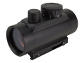 NcStar Tactical Red Dot Sight 30mm Tube 1x 3 MOA Dot with Integral Weaver-Style Mount Matte