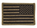 BlackHawk American Flag Patch Subdued Olive Drab Reversed