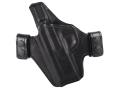 Bianchi Allusion Series 125 Consent Outside the Waistband Holster Left Hand Smith & Wesson M&P 9mm or 40 S&W Leather Black