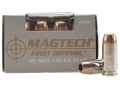 Product detail of Magtech First Defense Ammunition 40 S&amp;W 130 Grain Solid Copper Hollow Point Lead-Free Box of 20