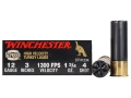 Winchester Double X Turkey Ammunition 12 Gauge 3&quot; 1-3/4 oz #4 Copper Plated Shot Box of 10