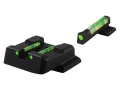 HIVIZ Sight Set S&W M&P, M&P Compact Steel Fiber Optic Green