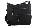 Gun Tote'N Mamas Chrome Zip Handbag Leather Black