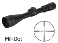 Sightron SII Big Sky Rifle Scope 3-12x 42mm Mil-Dot Reticle Matte