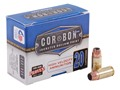 Cor-Bon Self-Defense Ammunition 9mm Luger +P 115 Grain Jacketed Hollow Point Box of 20