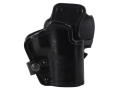 Front Line LKC 3-Layer Belt Holster Right Hand Glock 20, 21 Suede Lined Leather and Kydex Black