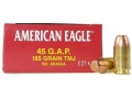 Product detail of Federal American Eagle Ammunition 45 GAP 185 Grain Total Metal Jacket Box of 50
