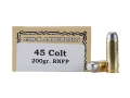 Ten-X Cowboy Ammunition 45 Colt (Long Colt) 200 Grain Lead Round Nose Flat Point Box of 50