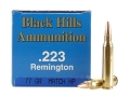 Product detail of Black Hills Remanufactured Ammunition 223 Remington 77 Grain Sierra MatchKing Hollow Point Boat Tail Box of 50