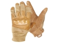 BlackHawk Fury Commando HD Gloves Leather Nylon and Nomax Coyote Tan