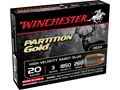 Winchester Supreme Ammunition 20 Gauge 3&quot; 260 Grain Partition Gold Sabot Slug Box of 5