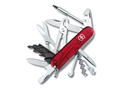 Victorinox Swiss Army CyberTool 34 Folding Pocket Knife 34 Function Stainless Steel Blade Polymer Handle Ruby