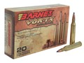 Barnes VOR-TX Ammunition 25-06 Remington 100 Grain Tipped Triple-Shock X Bullet Boat Tail Lead-Free Box of 20