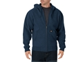 Dickies Lightweight Fleece Full Zip Hoodie Cotton Polyester Blend