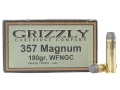 Product detail of Grizzly Ammunition 357 Magnum 180 Grain Cast Performance Lead Wide Flat Nose Gas Check Box of 20