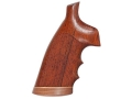 Hogue Fancy Hardwood Grips with Accent Stripe, Finger Grooves and Contrasting Butt Cap S&W N-Frame Square Butt Checkered